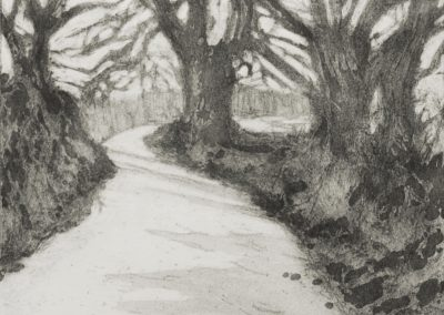 Early Spring, etching and aquatint by Elizabeth Perry